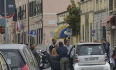 Commercianti in protesta a Colline
