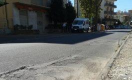 Lavori di asfaltatura in via Montebello