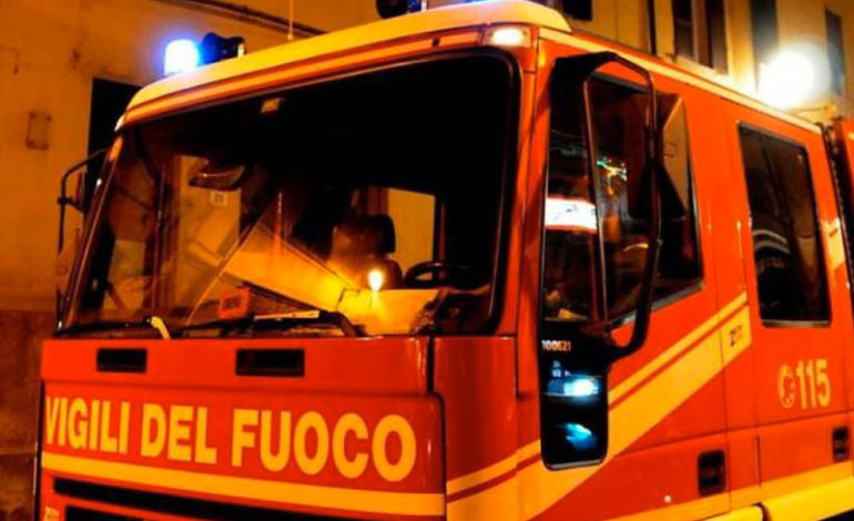 Scooter a fuoco a Salviano