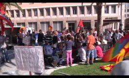 Sciopero regionale delle tute blu a Livorno (VIDEO)