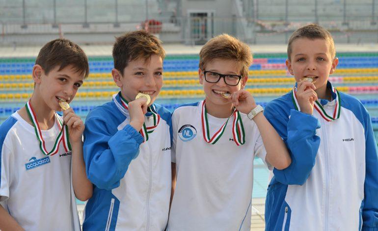 Nuoto, gli esordienti B2 campioni italiani
