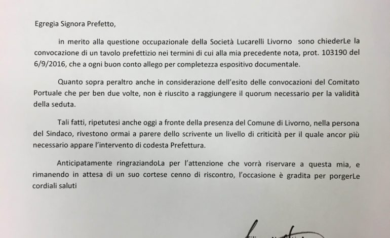 Lucarelli Terminal: interviene Nogarin