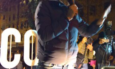 """Di Battista (M5S) in piazza XX Settembre: """"Noi tra la gente"""""""