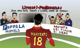 Il pareggio del Livorno in vignetta
