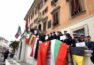 Parata delle Marinerie Estere e ricevimento a Palazzo Comunale