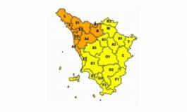 Allerta meteo arancione per forti temporali