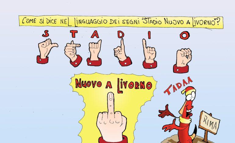 Stadio e il linguaggio labronico dei segni