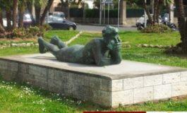 """Parte il restauro del basamento del monumento """"Il Pescatore"""""""
