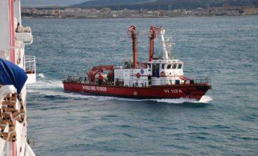 Simulato incendio su traghetto