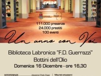 La Biblioteca dei Bottini dell'Olio compie un anno e festeggia