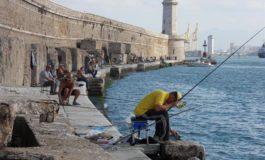 Molo Novo, si torna a pescare
