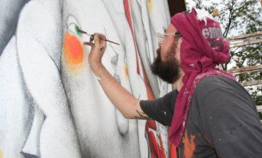 Un murales di Zed1 in Borgo Cappuccini