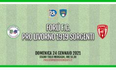 La Pro Livorno Sorgenti espugna Forlì (1-3)